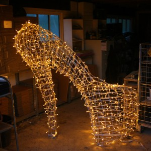 LED Lighting Topiary Shoe