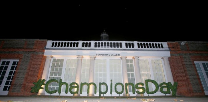 Champions Day Topiary Letters