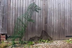 T-rex in wire frame