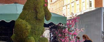 Moss Topiary Rabbit at The Ivy