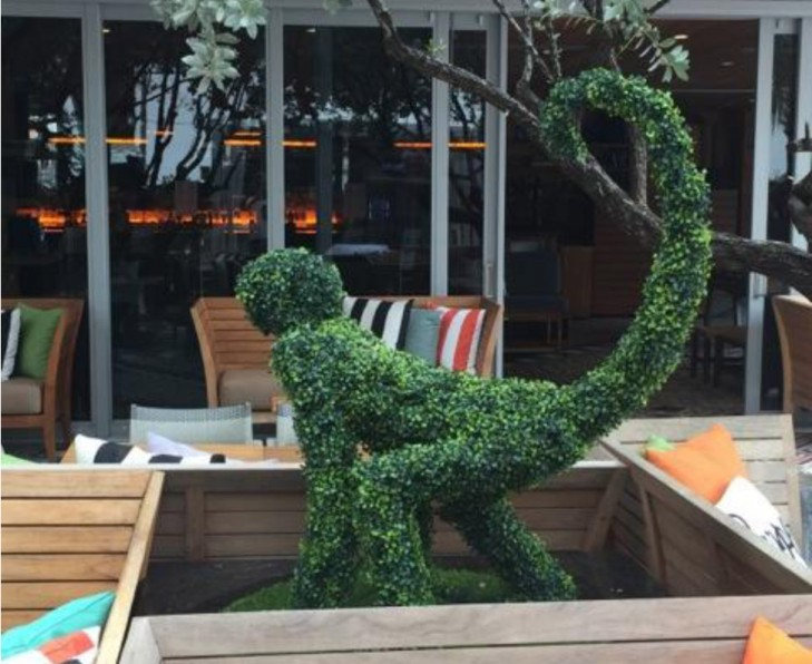 Hyde Beach Topiary Monkey