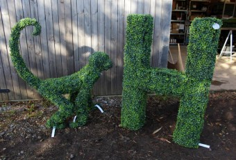 Topiary Monkey and Letter H