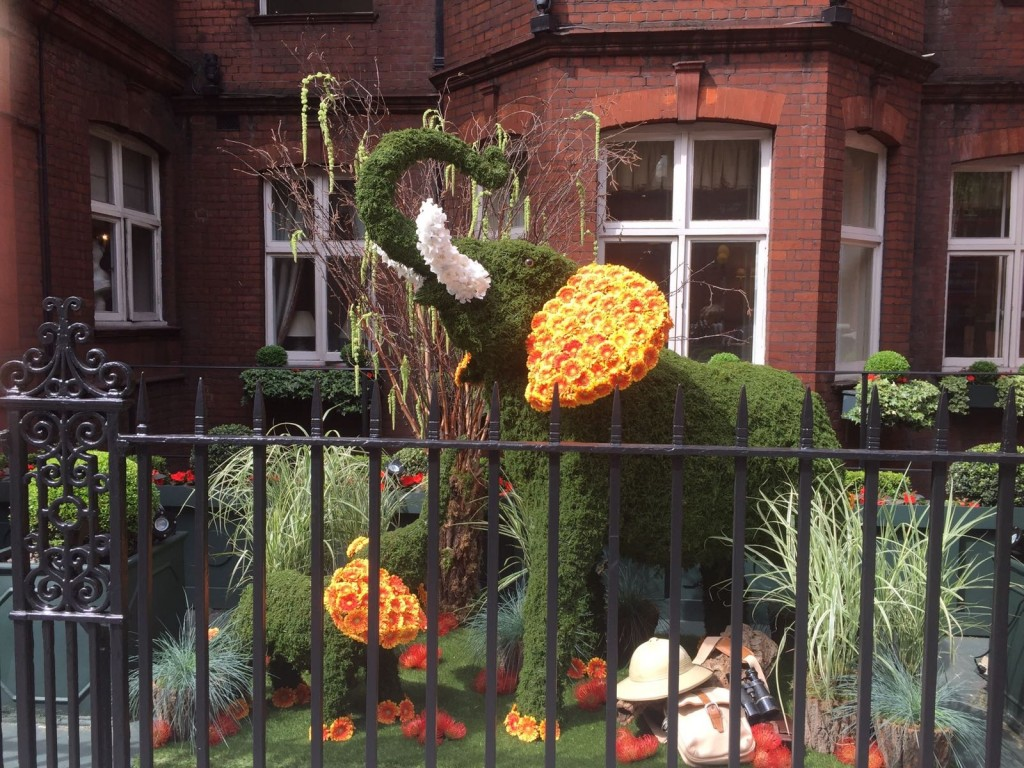 Topiary elephants at Chelsea in Bloom 2017