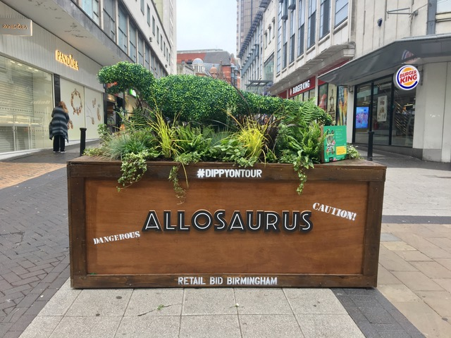 Allosaurus Artificial Boxwood Topiary