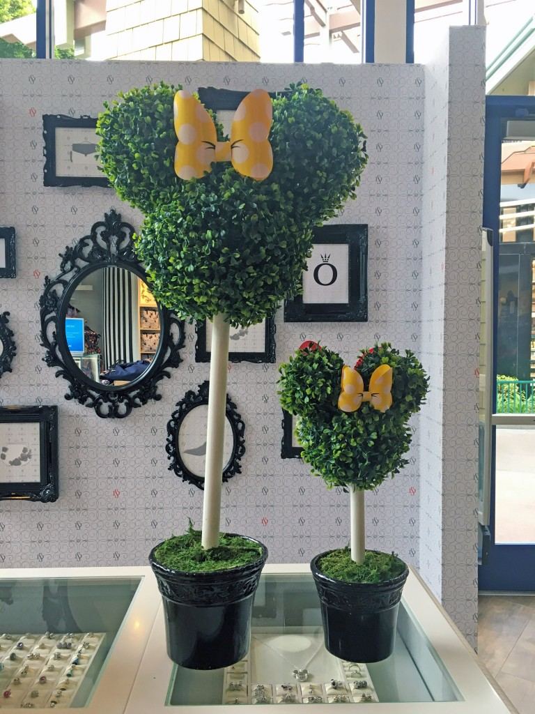 Topiary Mickey Heads in Disneyland California