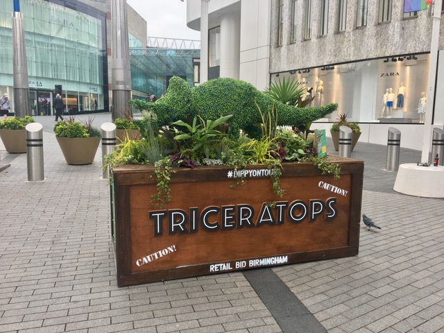 Triceratops Topiary