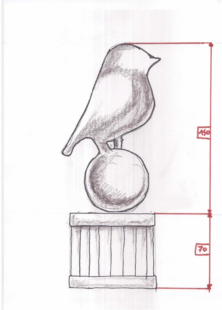 Bristol City FC Topiary Sketch