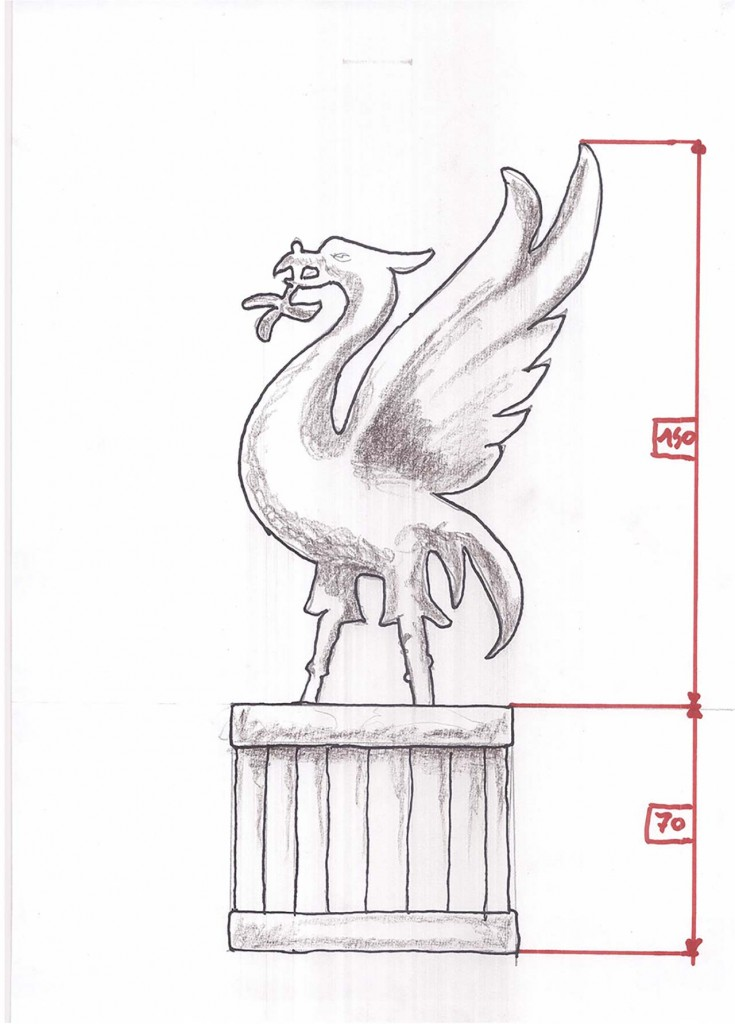 Liverpool FC Topiary Sketch