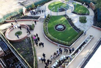 Birds Eye View of the VC Memorial Garden