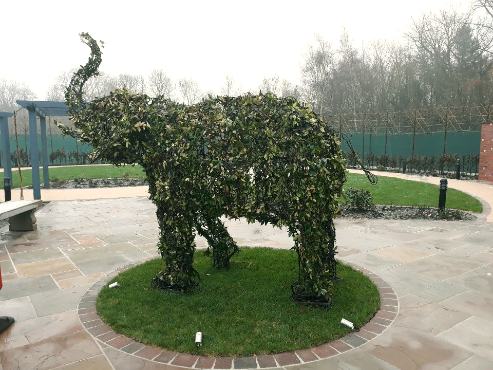 Topiary Elephant Trunk Up