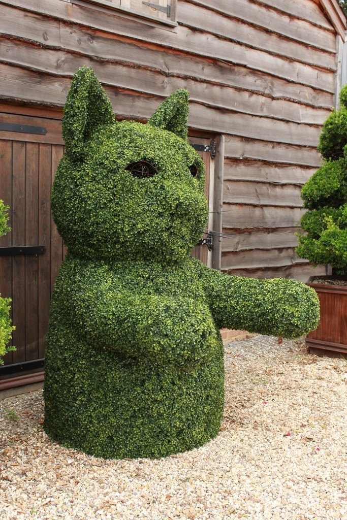 Work in progress topiary cat