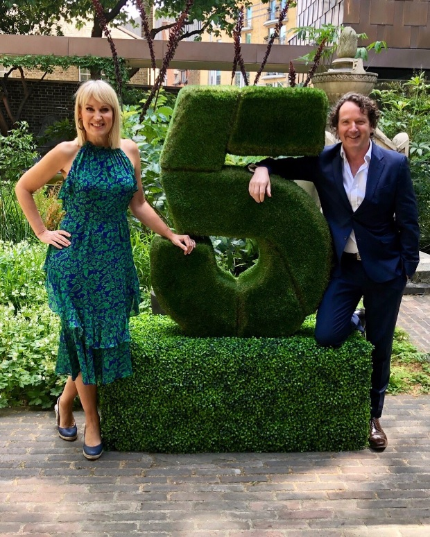 Channel 5 Logo Topiary Sculpture