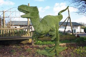 Artificial Grass Velociraptor