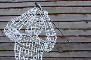 wire frame golfer